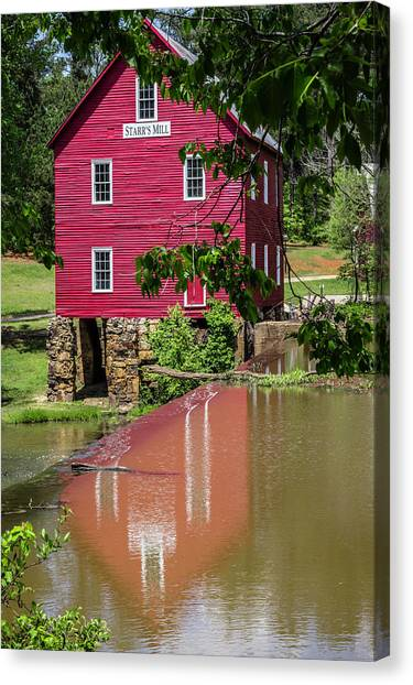 Starrs Mill Reflection Canvas Print