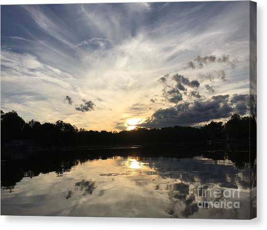 Reflecting Upon The Sky Canvas Print