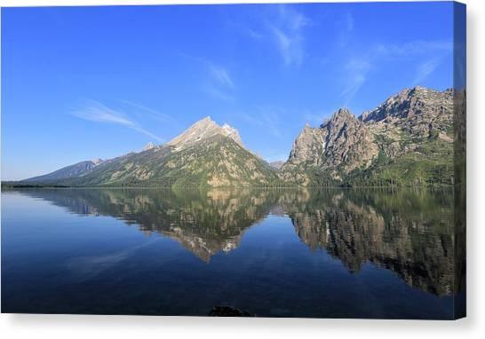 Reflection At Grand Teton National Park Canvas Print