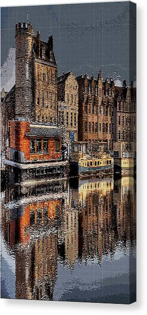 Tetris Canvas Print - Reflection Bay by Sun Browser