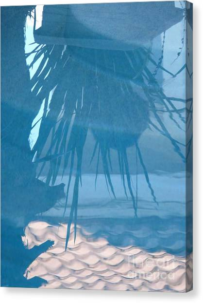 Reflection In Blue Canvas Print by Donna McLarty