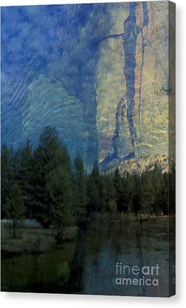 Reflection In The Merced River Canvas Print by Stan and Anne Foster