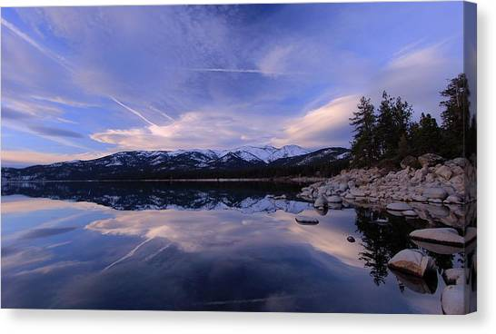 Canvas Print featuring the photograph Reflection In Winter by Sean Sarsfield