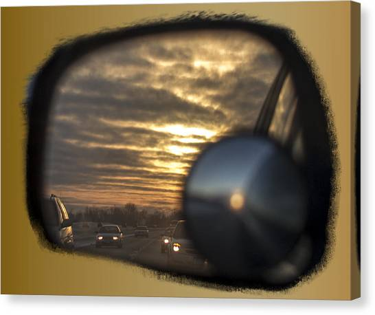 Reflection Of A Sunset Canvas Print