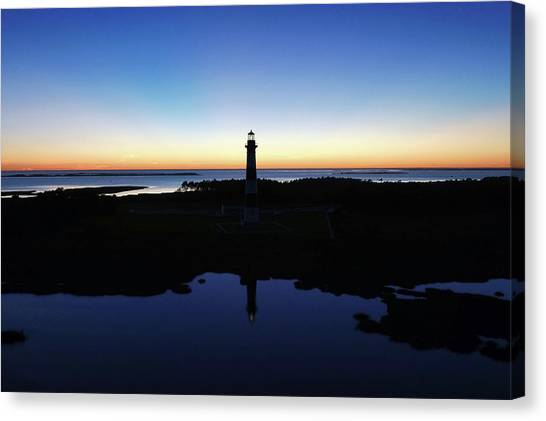 Reflection Of Bodie Light At Sunset Canvas Print