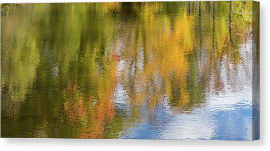Reflection Of Fall #1, Abstract Canvas Print