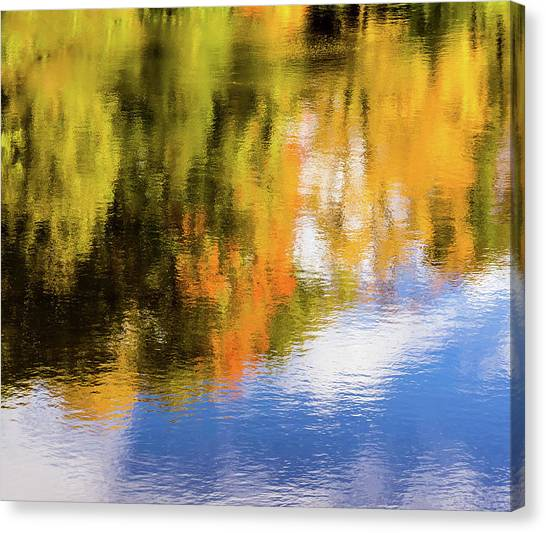 Reflection Of Fall #2, Abstract Canvas Print