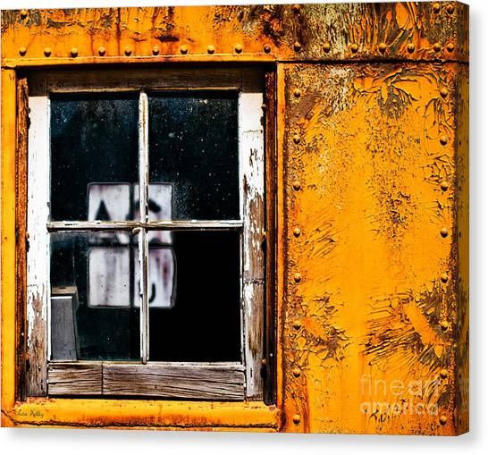 Reflection Of Light In The Midst Of Decay Canvas Print