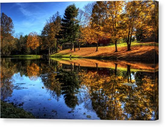 Reflection Of Northeast Ohio Fall Canvas Print