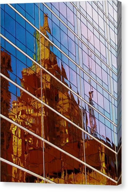 Reflection Of The Past - Tulsa Canvas Print