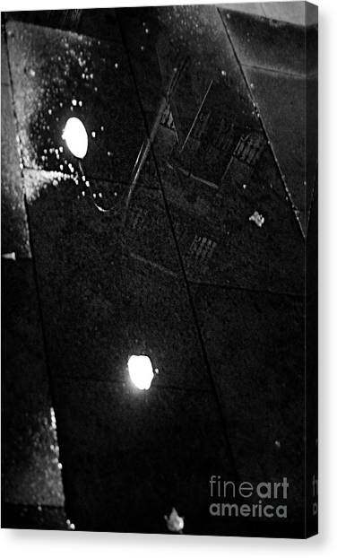 Reflection Of Wet Street Canvas Print
