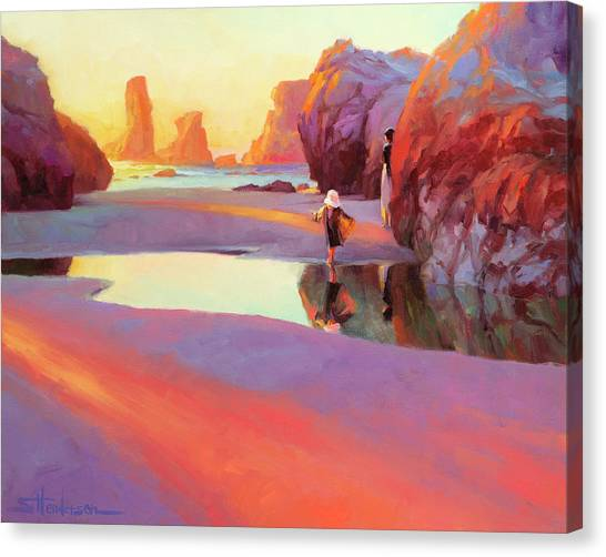 Pacific Coast Canvas Print - Reflection by Steve Henderson