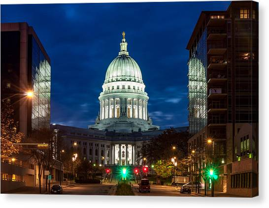 Capitol Building Canvas Print - Reflection Surrounded by Todd Klassy
