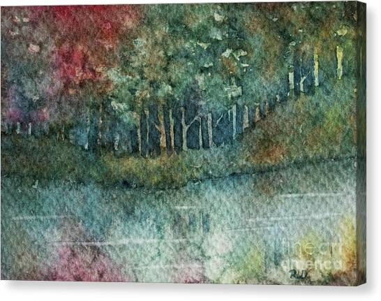 Reflections Along The Water Canvas Print