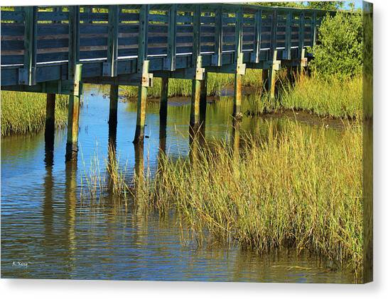 Reflections And Sea Grass Canvas Print