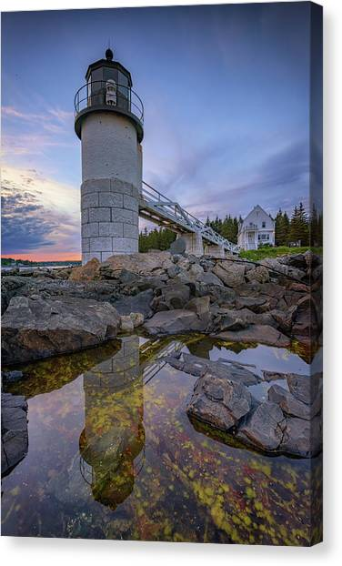 St George Canvas Print - Reflections At Marshall Point by Rick Berk