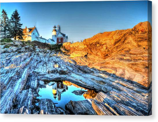 Reflections At Pemaquid Point Canvas Print