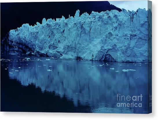 Margerie Glacier Canvas Print - Reflections - Glacier by D Hackett