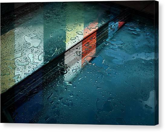 Drops Canvas Print - Reflections by Henk Van Maastricht