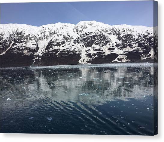 Reflections In Icy Point Alaska Canvas Print