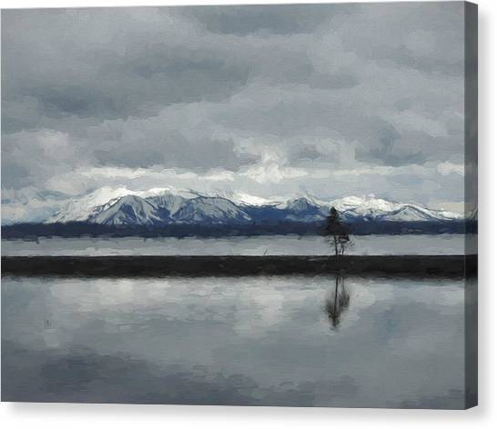 Reflections In Lake Yellowstone Canvas Print