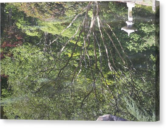 Reflections In The Japanese Gardens Canvas Print