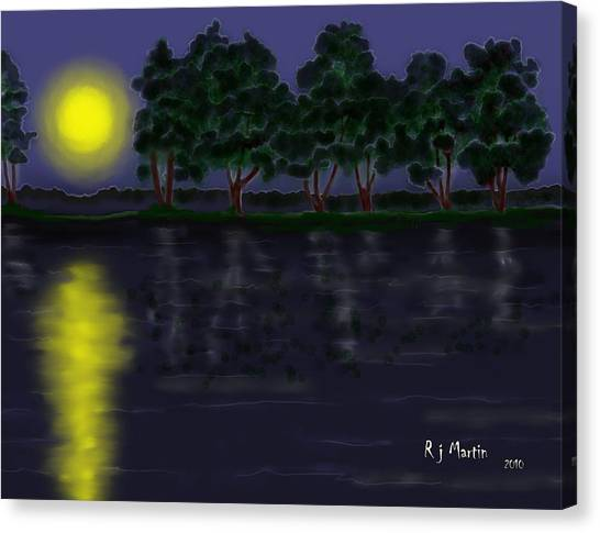 Reflections In The Moonlight Canvas Print
