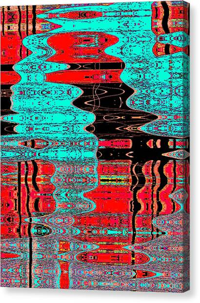 Reflections Number 1 Canvas Print by Teodoro De La Santa