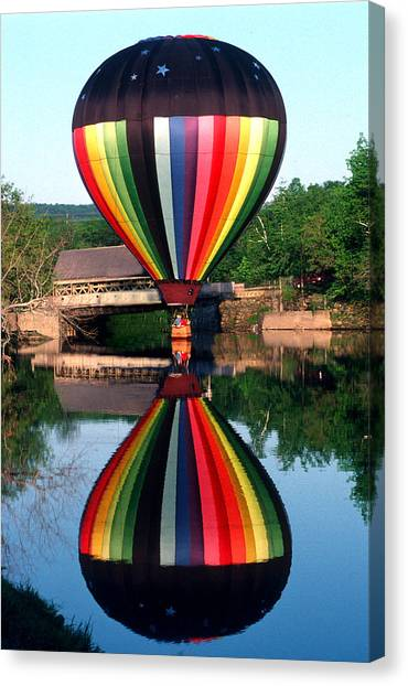 Reflections Of A Balloonist Canvas Print by Jim DeLillo