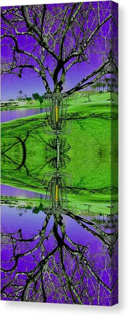 Disc Golf Canvas Print - Reflections Of A Good Hucking Day by Rich Mann