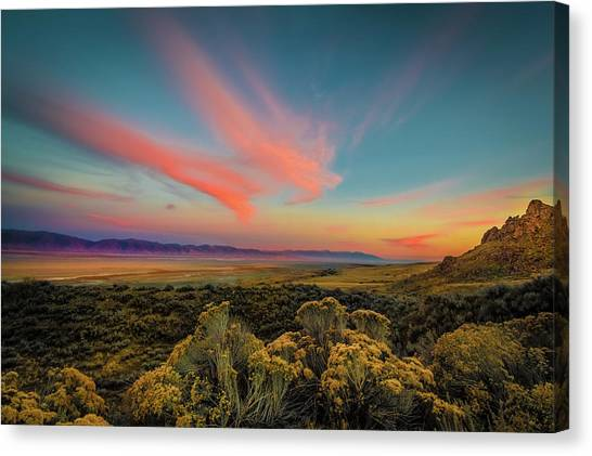 Reflections Of A Sunset Unseen Canvas Print
