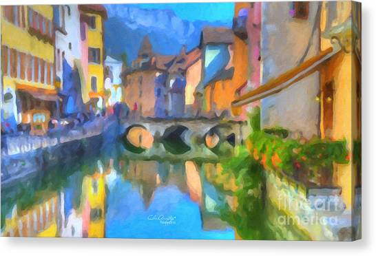 Reflections Of Eze Canvas Print