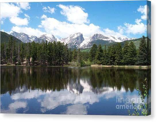 Reflections Of Sprague Lake Canvas Print