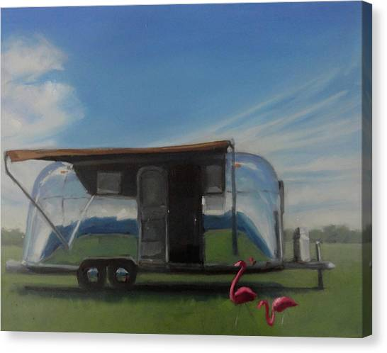 Reflections Of The Airstream Factory Canvas Print