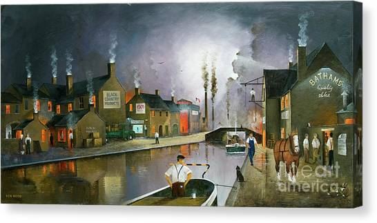 Reflections Of The Black Country Canvas Print