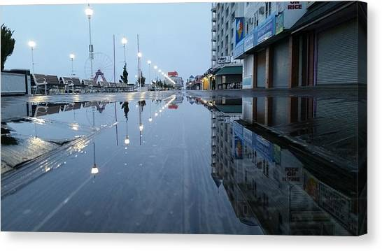 Reflections Of The Boardwalk Canvas Print