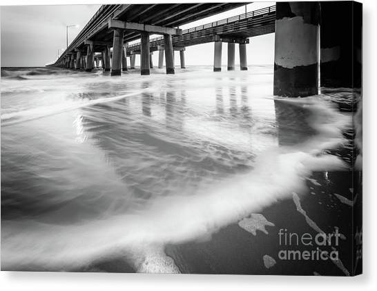 Reflections Of The Chesapeake Bay Bridge Tunnel Canvas Print by Lisa McStamp