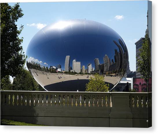 Reflections On Chicago Canvas Print