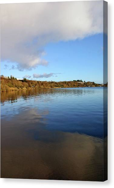 Reflections On Lough Fea. Canvas Print