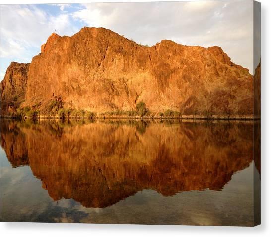 Arizona Canvas Print - Reflections On The Colorado by Sam Spreadbury