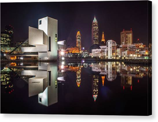 Reflections On The Harbor Canvas Print