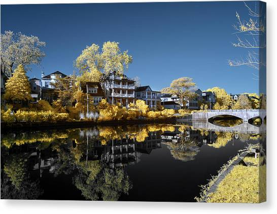 Reflections On Wesley Lake Canvas Print