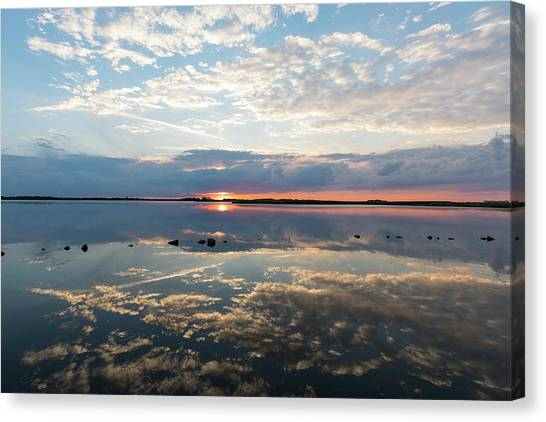 Reflections Over Back Bay Canvas Print