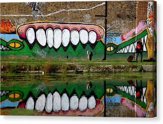 Reflective Canal 12 Canvas Print by Jez C Self
