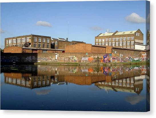 Reflective Canal 3 Canvas Print by Jez C Self