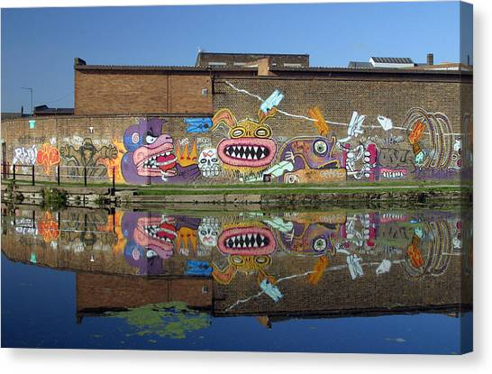 Reflective Canal 5 Canvas Print by Jez C Self
