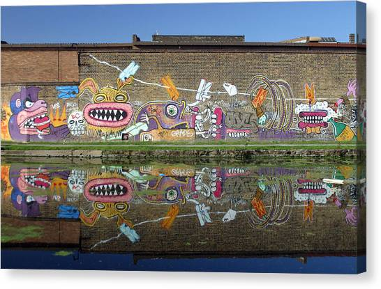 Reflective Canal 7 Canvas Print by Jez C Self