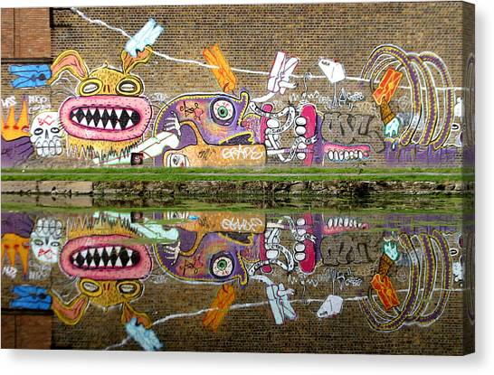 Reflective Canal 8 Canvas Print by Jez C Self