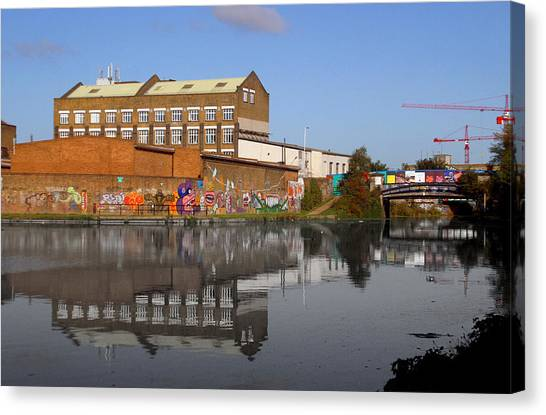 Reflective Canal Canvas Print by Jez C Self