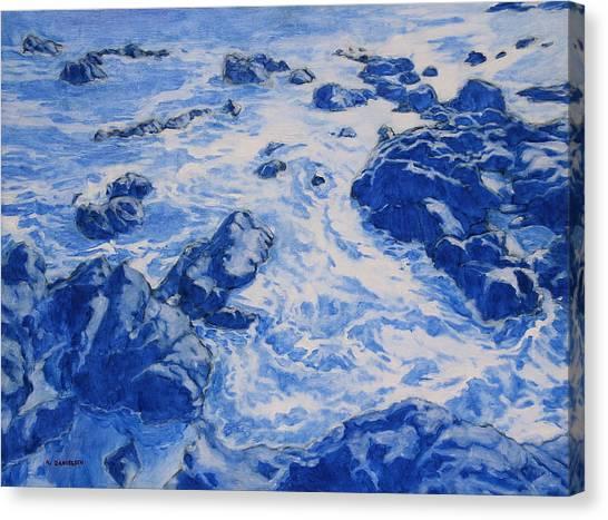 Reflective Churning Canvas Print